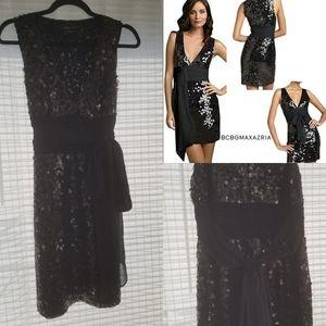 Black Sequined BCBG MaxAzria Party dress